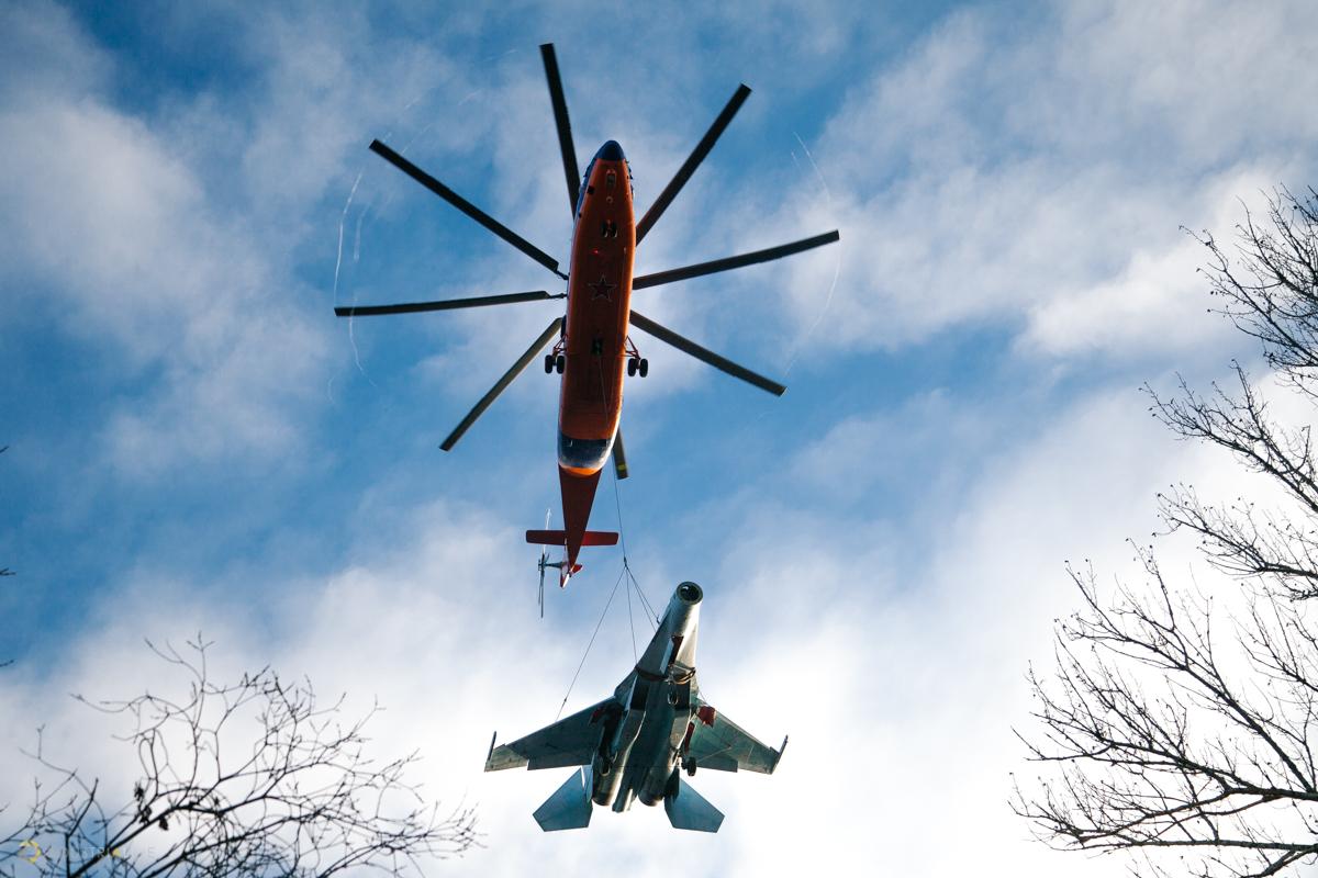 Транспортировка Су-27